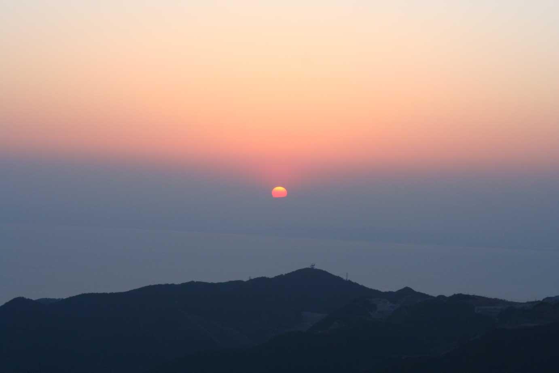 伊豆高原からの夕日